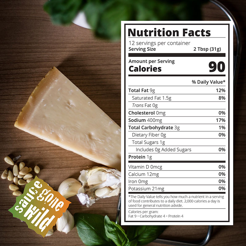 Nutritional Info for Garlic Parmesan