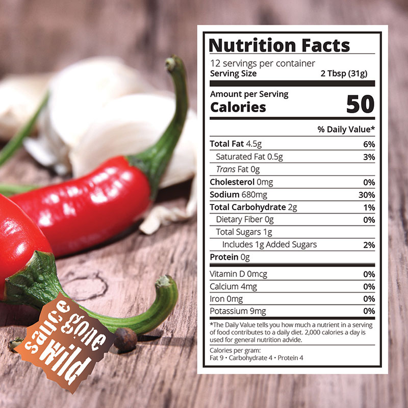 Nutritional Info for Spicy Garlic